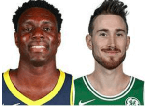 basketball players Darren Collision and Gordon Hayward
