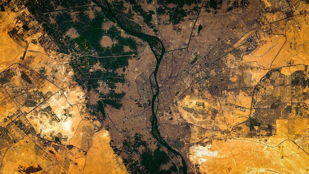 Cairo and Nile satellite image