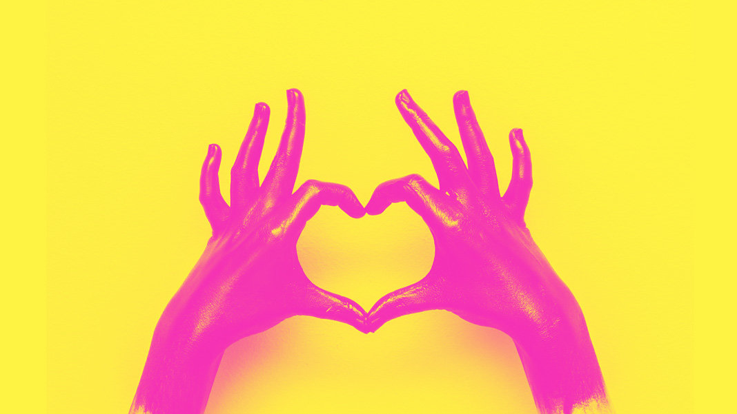 pink hands heart awesome stories from web