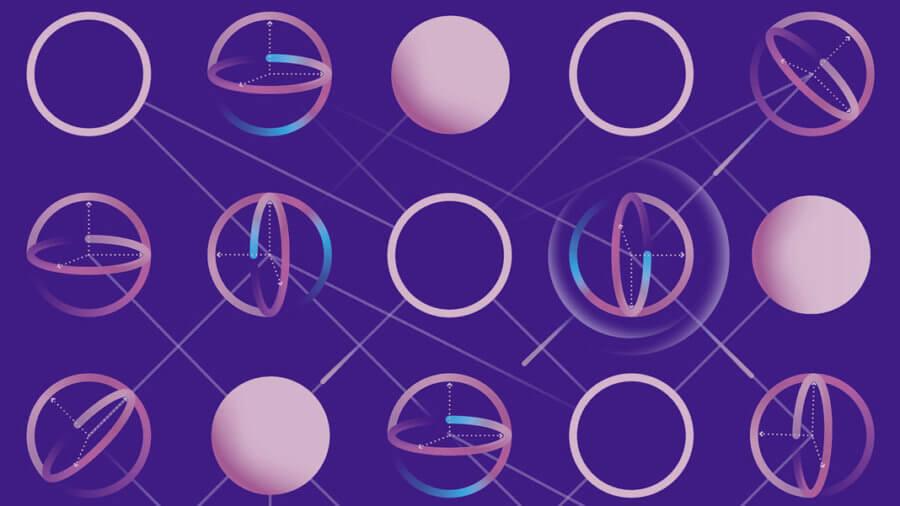 IBM quantum machine learning circuit artist depiction