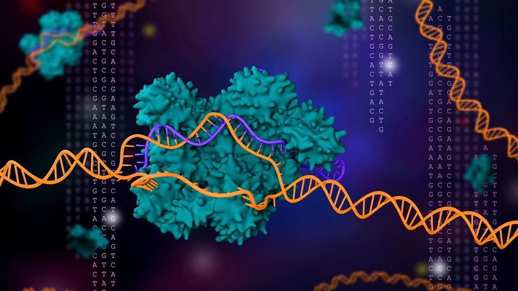 gene editing 3D illustration CRISPR