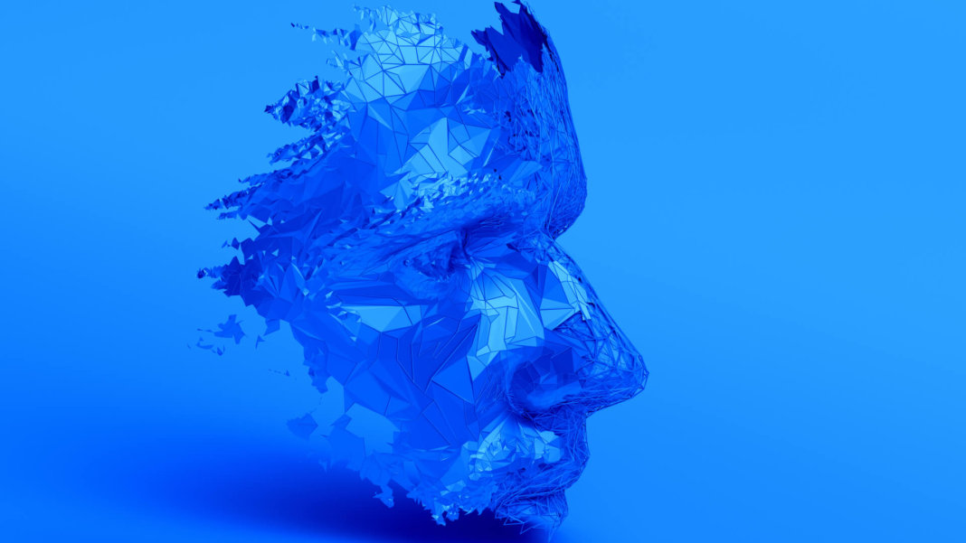 blue face polygons