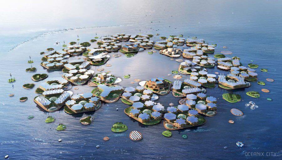 Oceanix City aerial image future