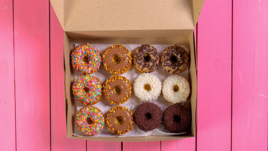 colorful donuts in a box numerosity of artificial intelligence
