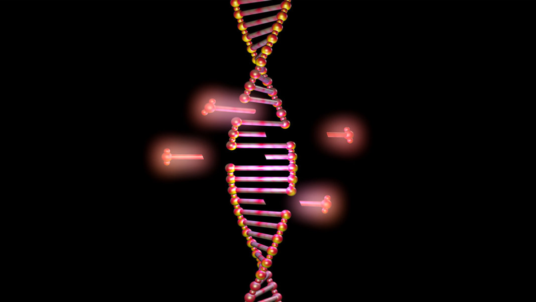 DNA molecule structure strand editing illustration CRISPR
