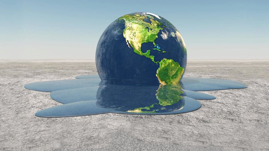 earth melting into water Environment climate change