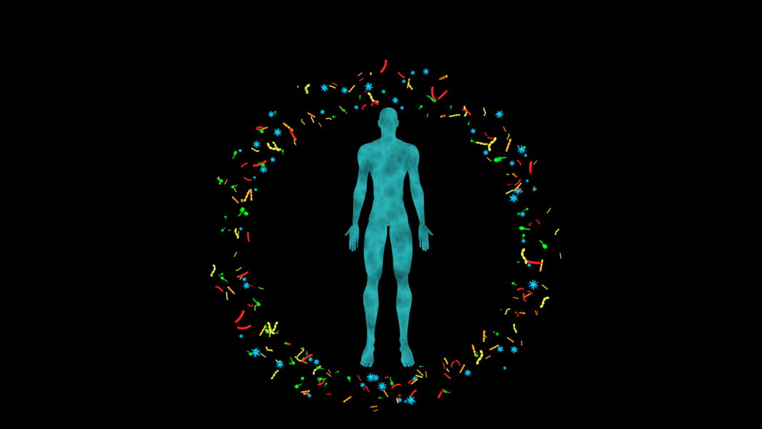 body surrounded by microbiome future of health