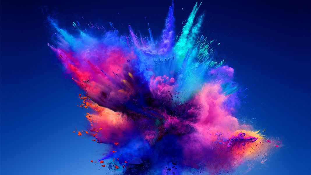 pink blue powder explosion entrepreneurship innovation