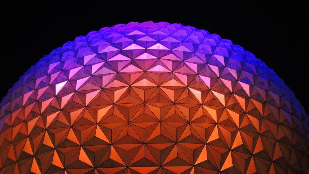 geometric dome purple orange