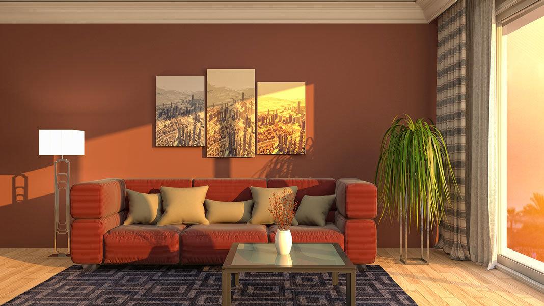 interior living room in 3D artificial intelligence