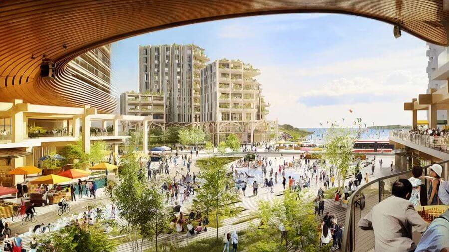 future Parliament Plaza by Sidewalk Labs