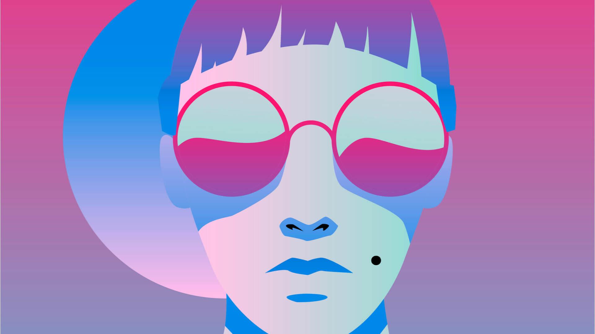 girl glasses pink blue shutterstock 1033475731