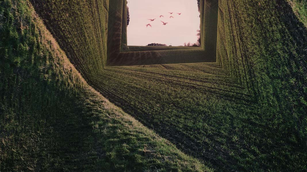 green landscape surreal inception concept neuroscience