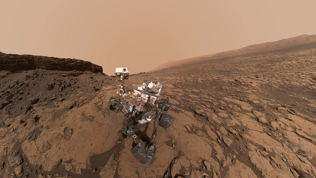 NASA Curiosity rover on Mars space