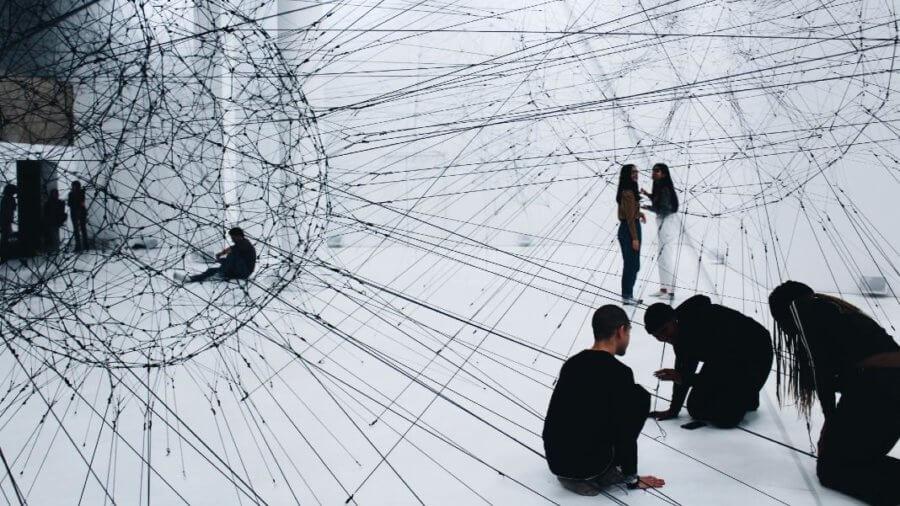 art installation people web network ethics
