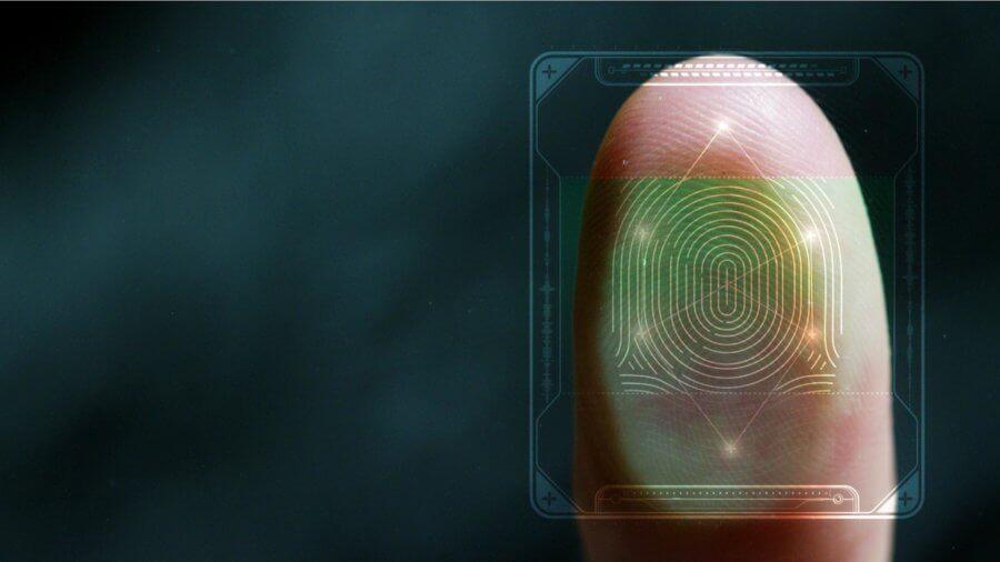 futuristic digital processing biometric fingerprint scanner Ethics