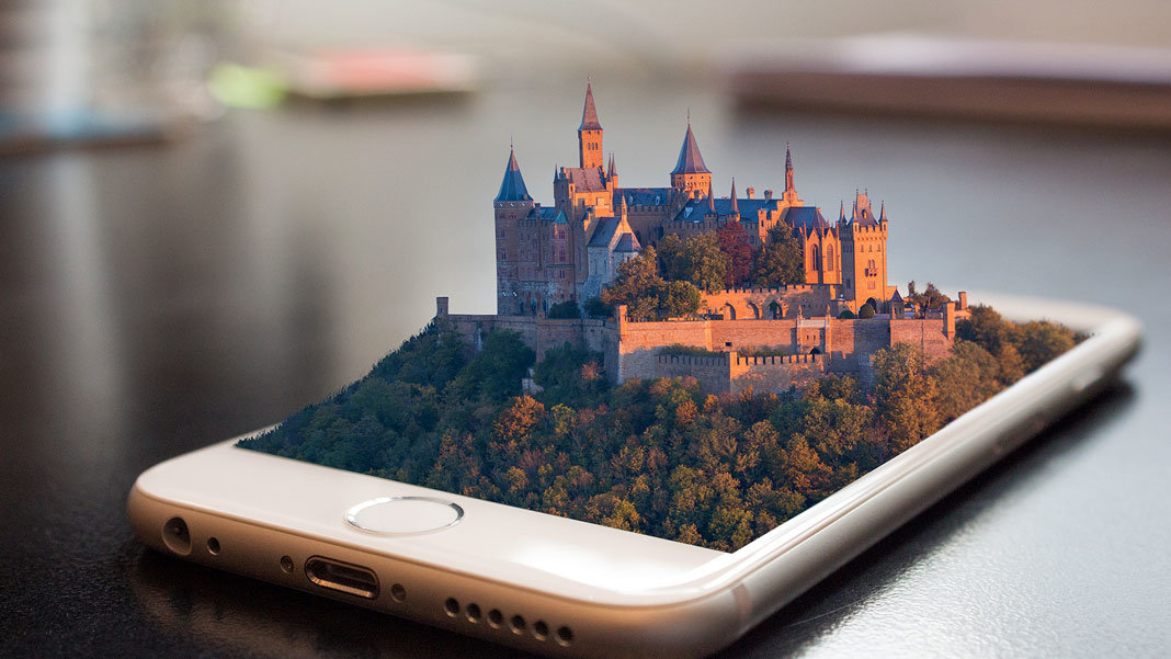 augmented reality castle mobile phone