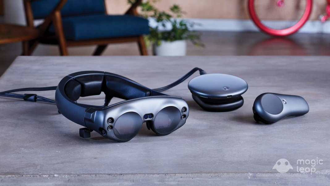 Magic Leap One Creator edition device for augmented reality