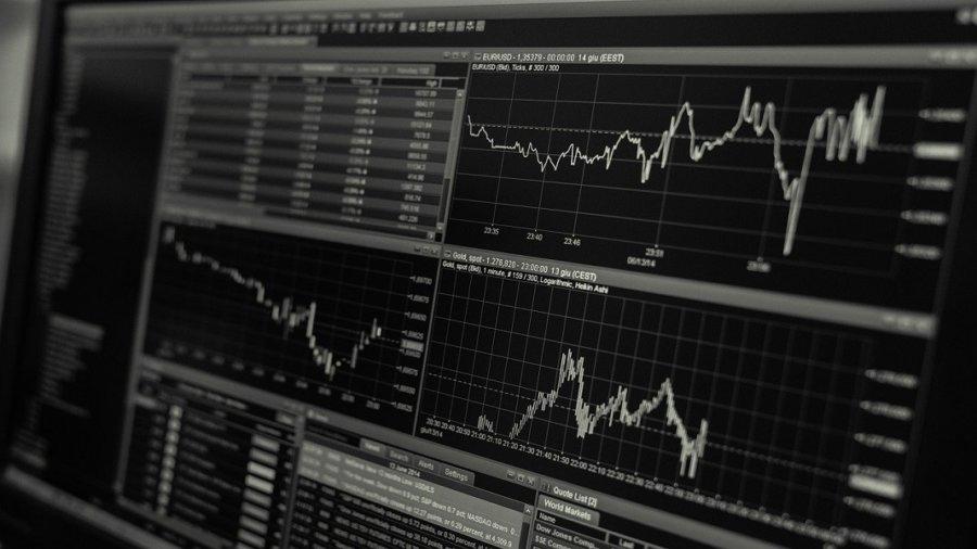 AI investing stock market graphs fintech future