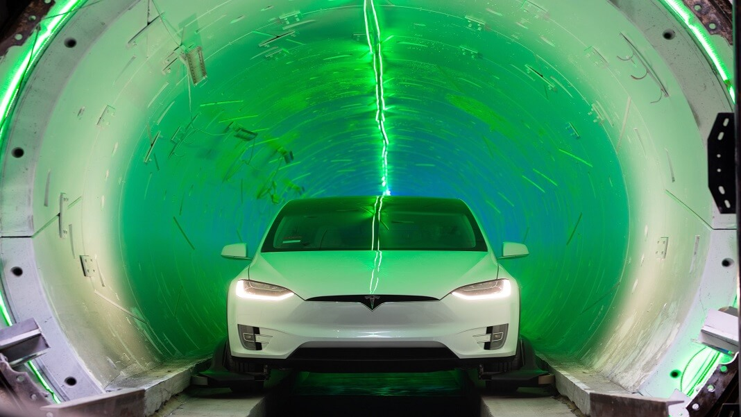 Elon Musk Boring Company tunnel Vegas transit