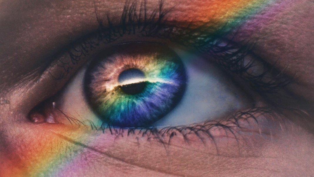 long-term thinking closeup pupil iris rainbow