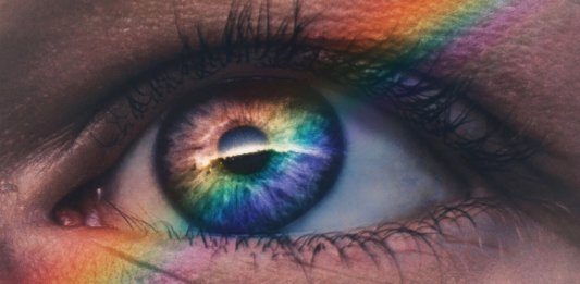 blind brain implant eye closeup pupil iris rainbow