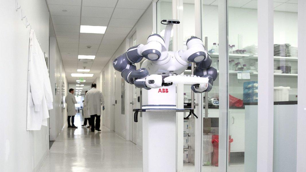 pandemic robot coronavirus ABB YuMi