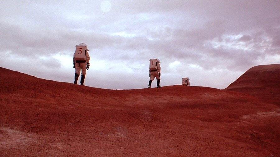 coronavirus quarantine mars simulation space suits red desert