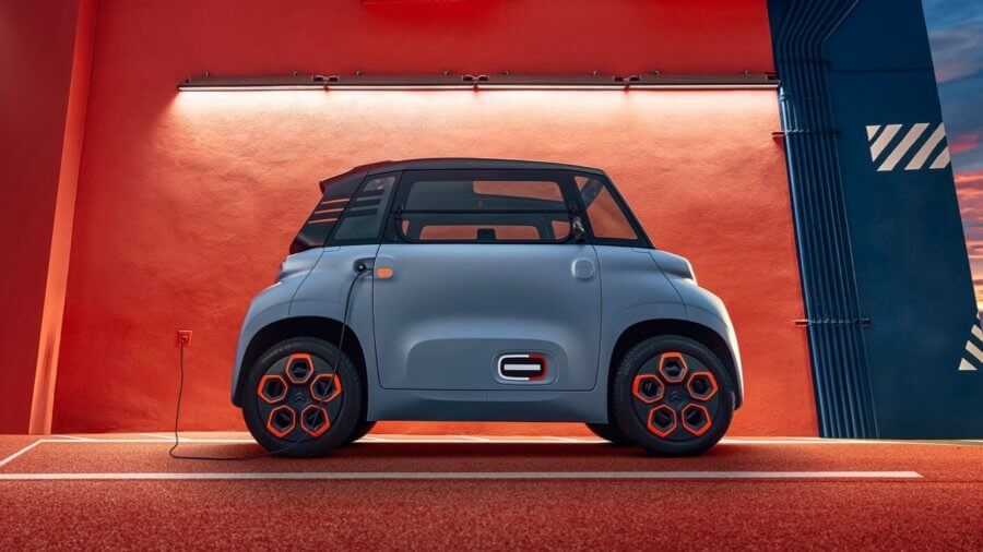 micromobility tiny electric car citroen ami