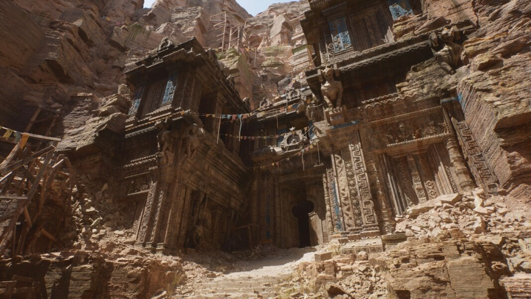 epic games unreal engine 5 video game graphics canyon temple