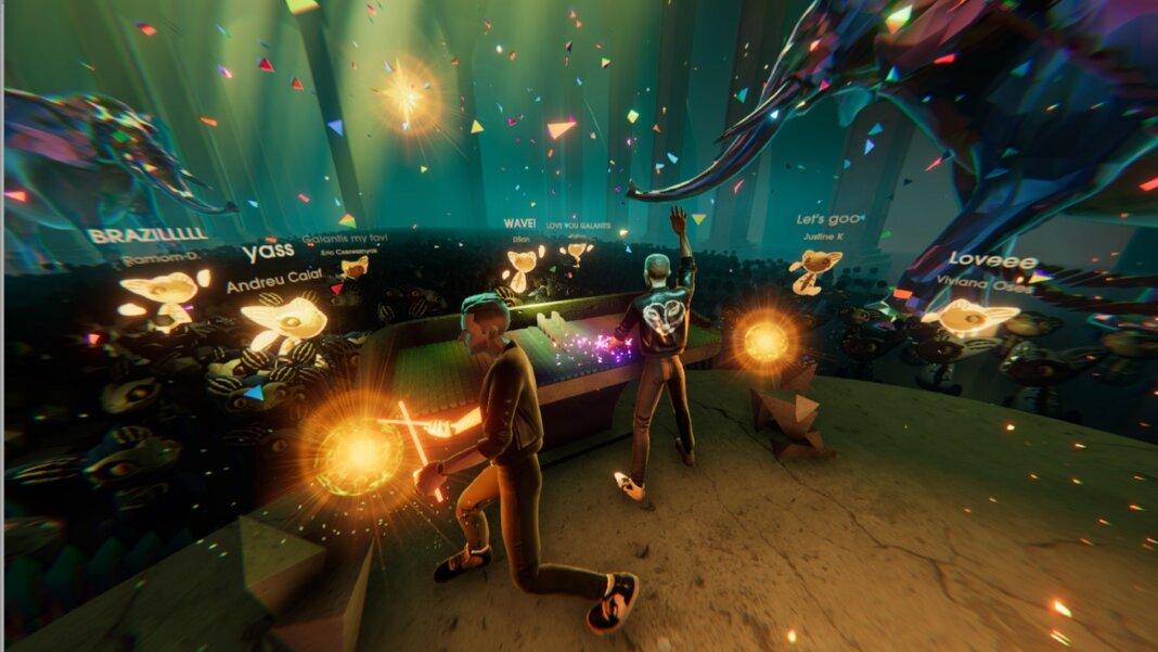 Wave virtual reality scene VR AR
