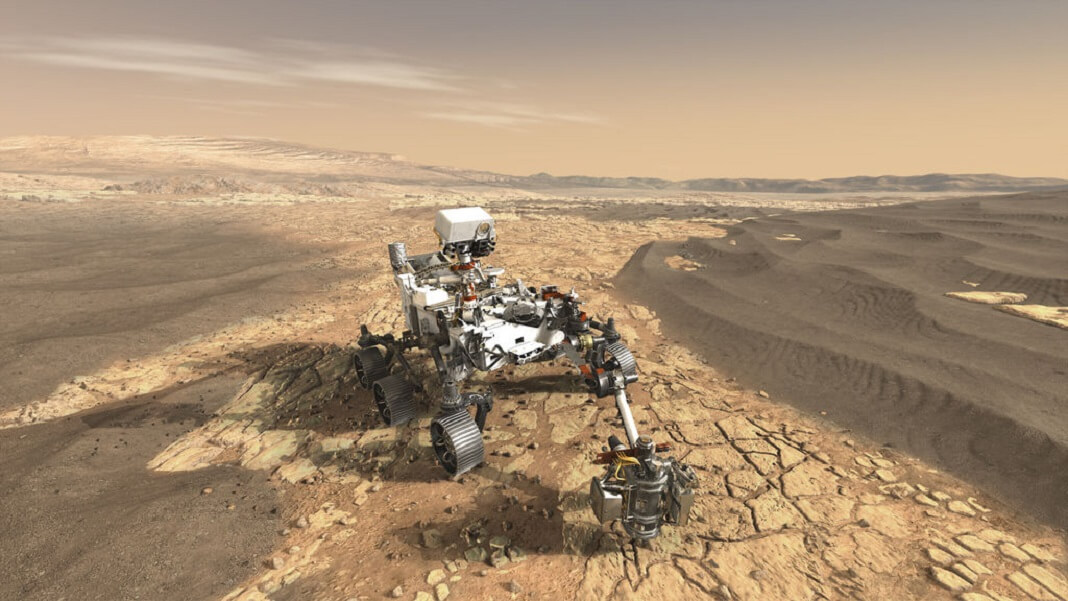 NASA Mars rover artist rendering space