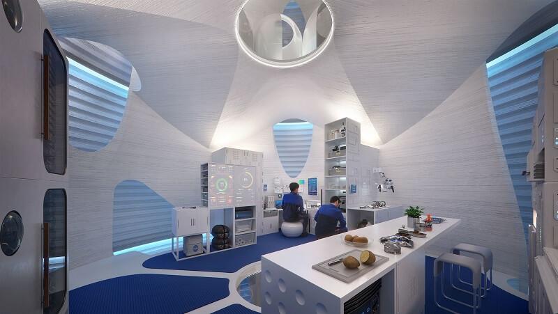 """O 3D Impresso Casas do Futuro """" Gigante de Ovos em Marte 2"""