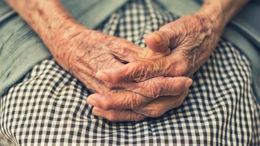 longevity genetics old hands black and white dress
