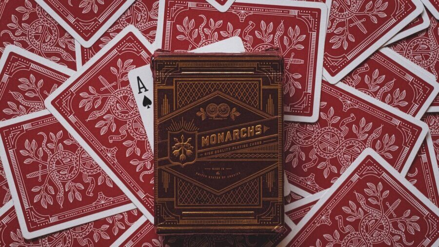 poker AI red deck of cards ace of spades