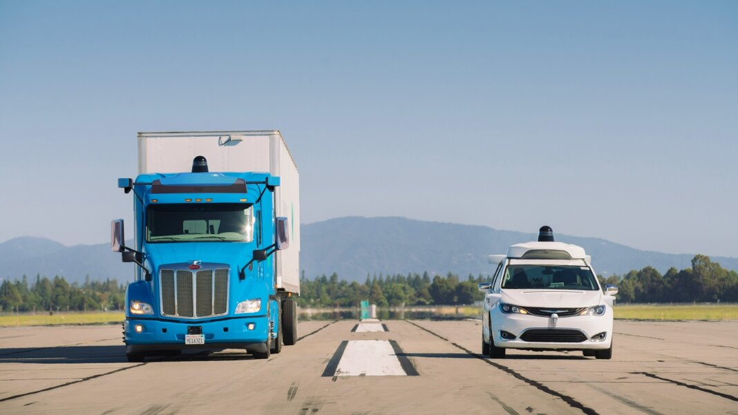 Waymo driverless truck self-driving car
