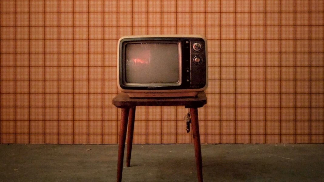 attention economy old television wallpaper