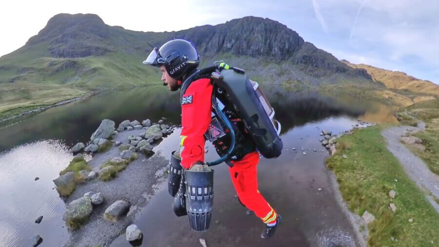 Watch a Jet Suit Pilot Glide Up a Mountain in a Test for Wilderness Paramedics 2