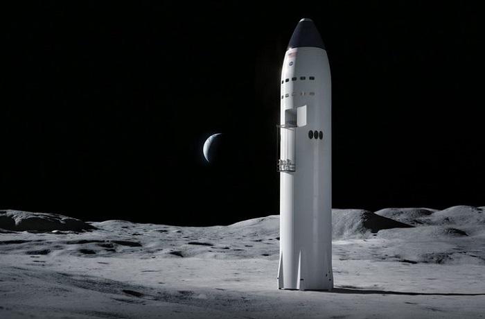 SpaceX starship lander moon NASA