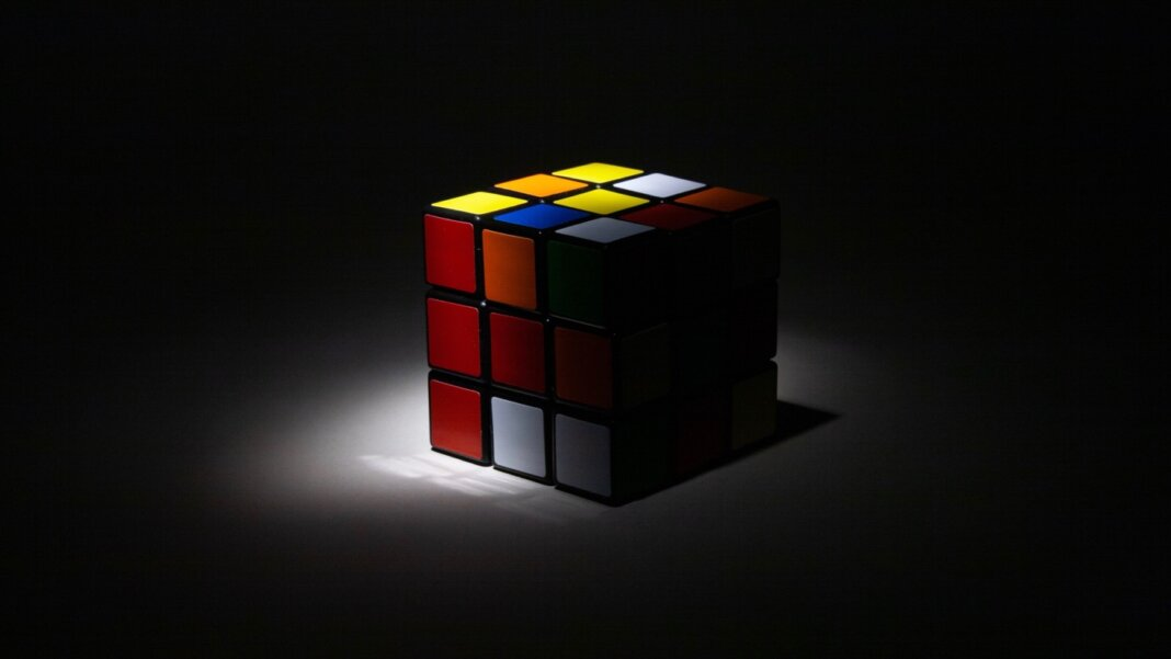 ai black box rubiks cube shadow