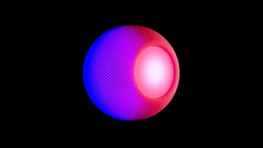 tech stories apple home pod smart speaker purple pink black background