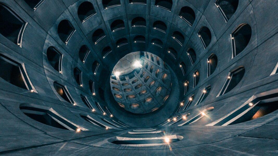 tech stories architecture round windows lights tunnel