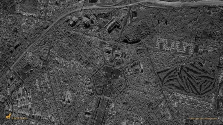 satellite image Capella Delhi