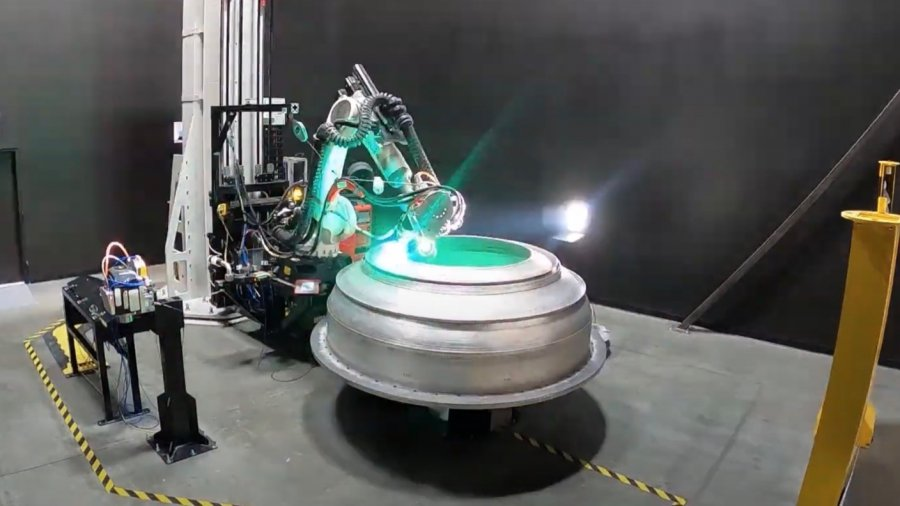 relativity space 3d printed rocket green laser metal