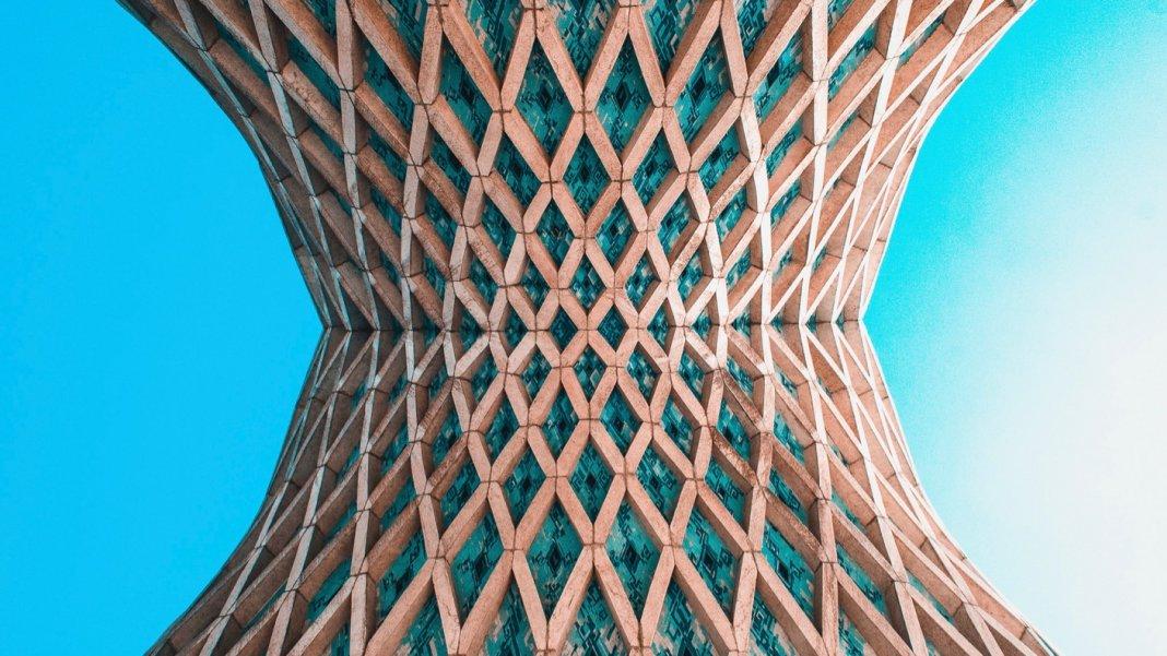 tech stories blue sky under arches mesh texture