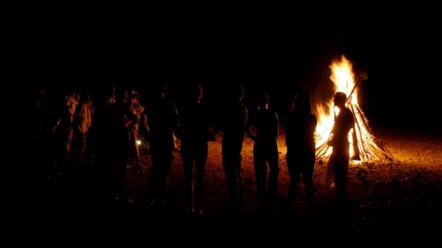 fire early humans history shadows nighttime people