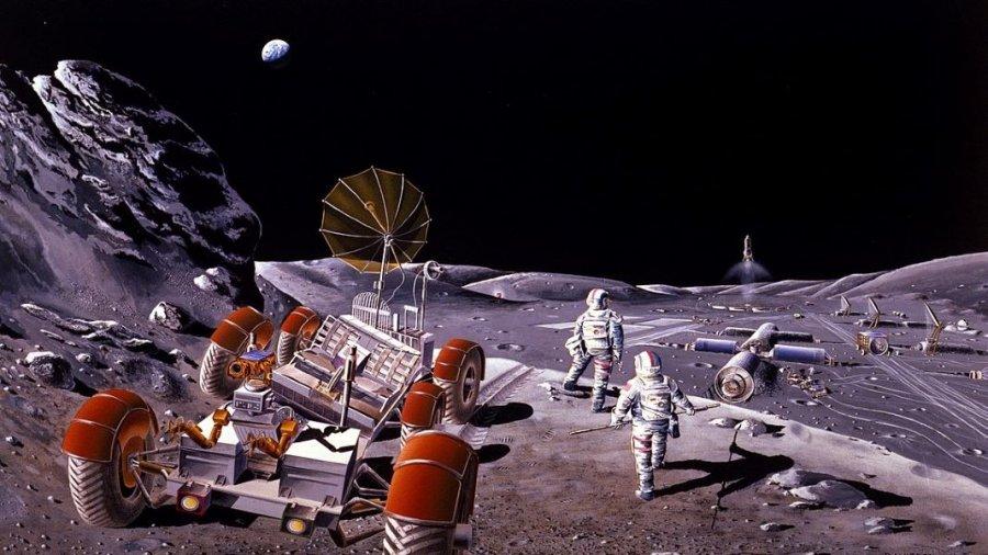 NASA baby born in space moon colony rover