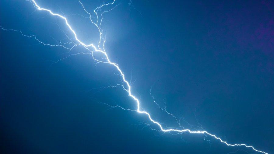 chronic pain lightning strike white blue black