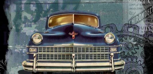 first car phone mobile tech vintage car 1947 chrysler
