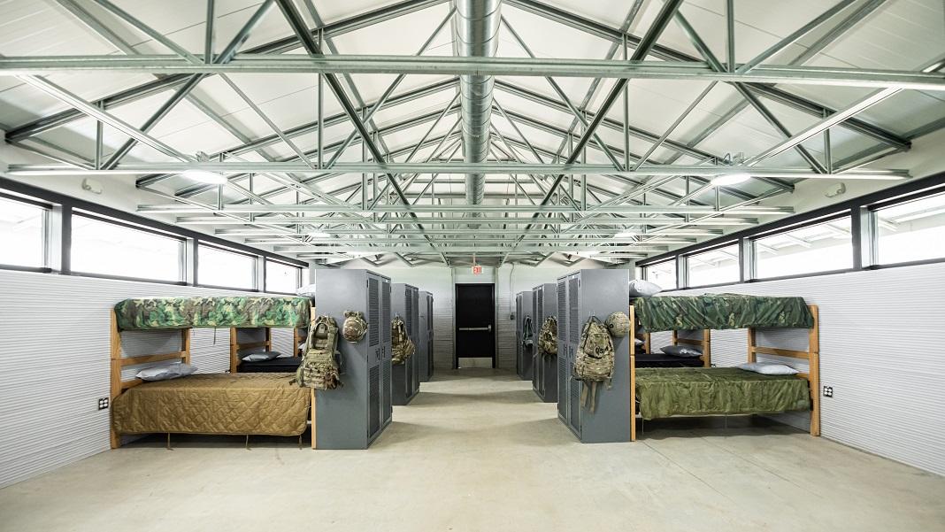 3d printed building ICON barracks Texas 3D printing